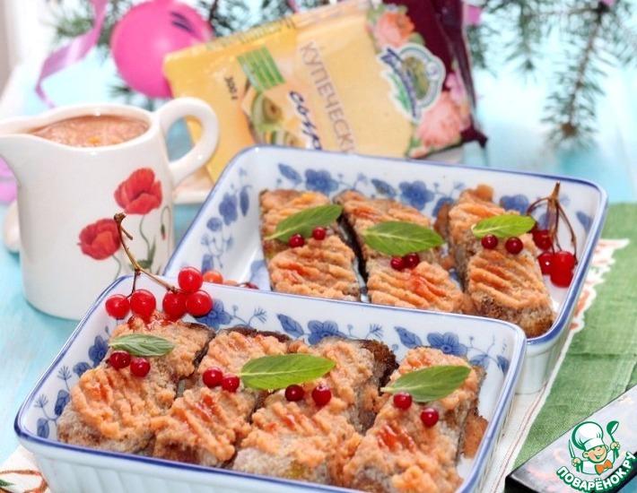 Рецепт: Сырная закуска из брокколи с соусом