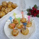 Закусочные сырные мини-кексы