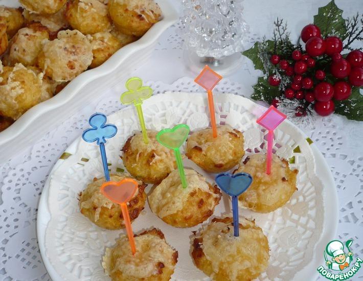 Рецепт: Закусочные сырные мини-кексы