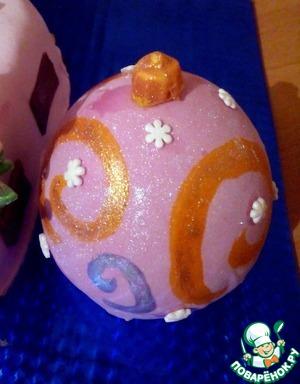 Новогодний шар из мастики