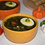 Куриный суп со шпинатом Отличный