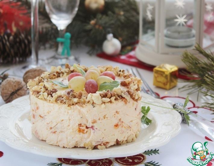 Рецепт: Закуска Пикантный сырный торт