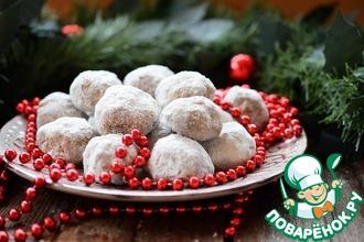 Рецепт: Рождественское печенье Снежки