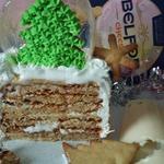 Мини-торт Елка в карамельном шаре
