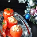 Сырный салат в помидорах