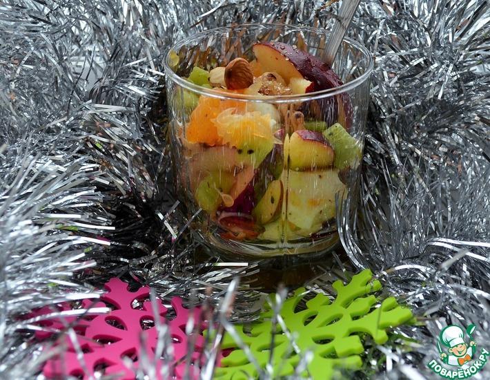 Рецепт: Новогодний фруктовый салат