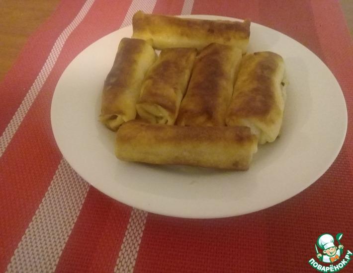 Рецепт: Вегетарианские блинчики с картофельной начинкой