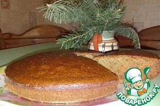 Рецепт: Постный пирог на чае с вареньем