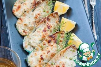 Рецепт: Мидии с сырно-чесночным соусом