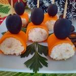 Рулетики из моркови Фуршетные