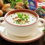 Грибной крем-суп с творожным сыром