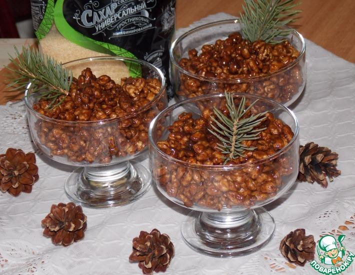 Рецепт: Десерт Пшеница в глазури