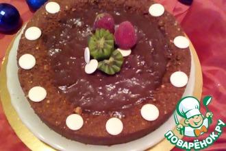 Рецепт: Шоколадный мягкий пай Новогодний