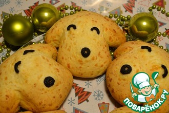Рецепт: Сырные булочки Горячая собака
