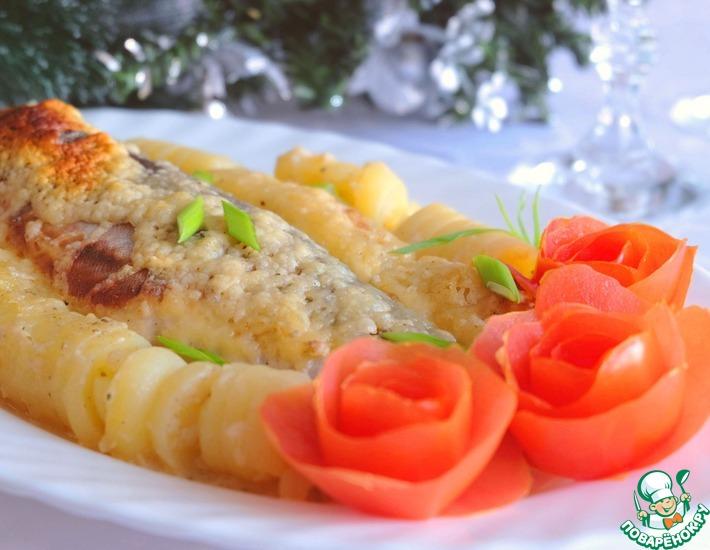 Рецепт: Голец в белом соусе с картофелем