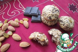 Рецепт: Печенье с шоколадом