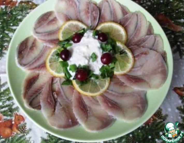 Рецепт: Карпаччо из соленой сельди