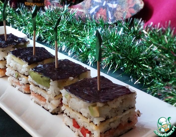 Рецепт: Суши-канапе
