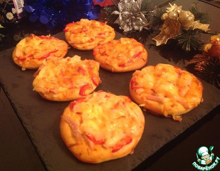 Рецепт: Мини-пицца Гавайская