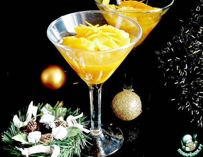 Рецепт: Рождественский десерт из апельсинов для взрослых