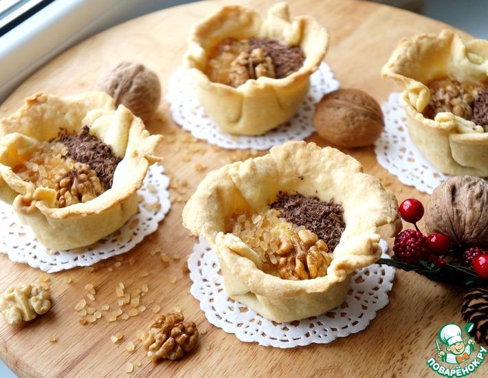 Рецепт: Пирожные Корзинки с двумя видами начинок