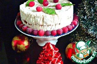 Рецепт: Замороженный рождественский торт без выпечки