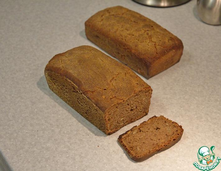 Рецепт: Простой ржаной хлеб на закваске