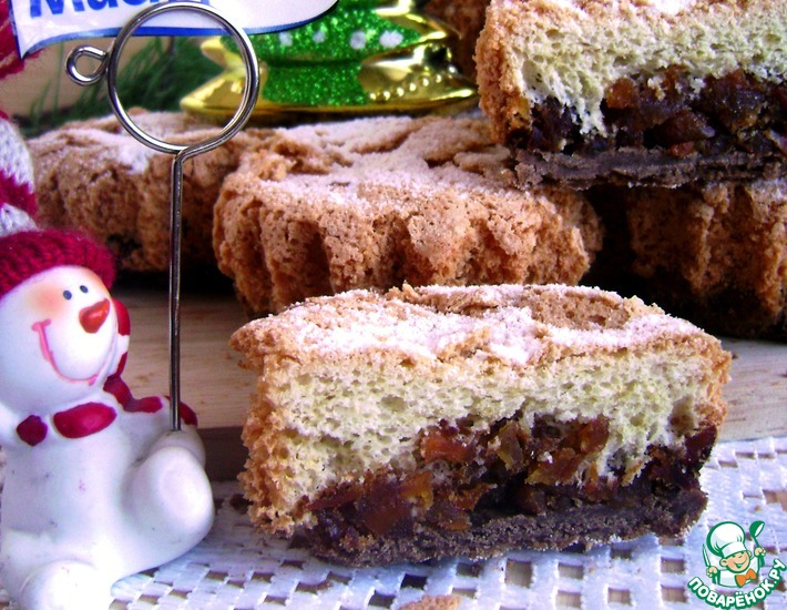 Рецепт: Пирожные пай с тыквой и хурмой