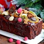 Рождественский шоколадный кекс