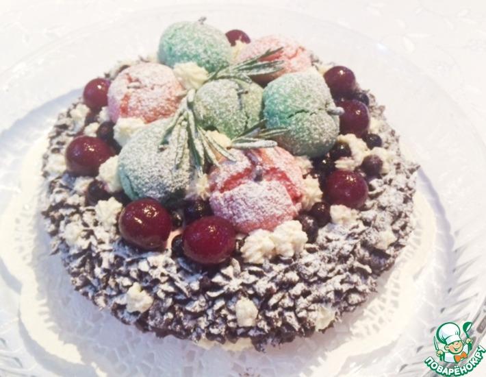 Летний торт на зимний лад
