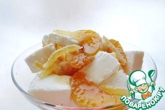 Рецепт: Имбирные мандарины с мороженым