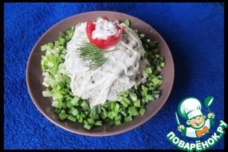 Рецепт: Мясной салат с яблоком
