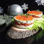 Порционные бутерброды Рождественский вечер