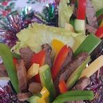Закуска новогодняя Пикантная говядина с овощами