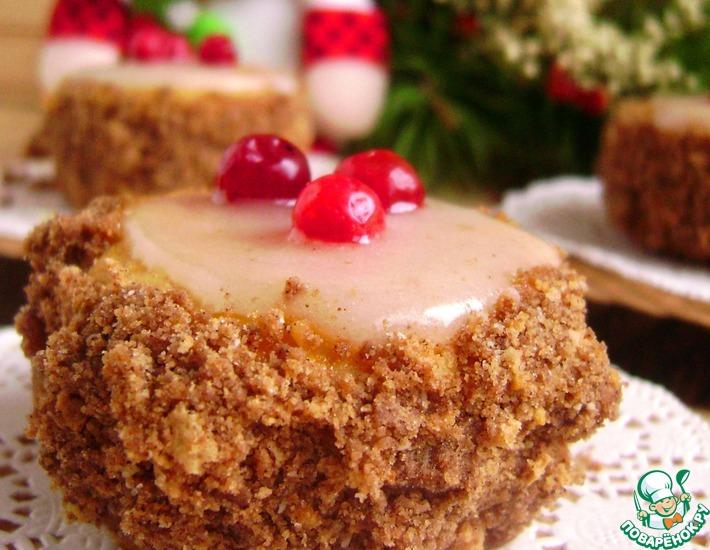 Рецепт: Песочное пирожное «Таежная недотрога»
