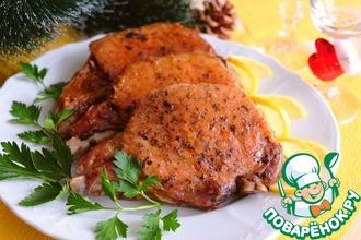 Рецепт: Свиные стейки, фаршированные сыром и грибами