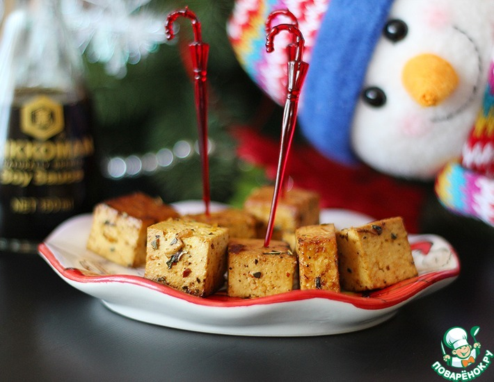 Рецепт: Закуска Румяный тофу
