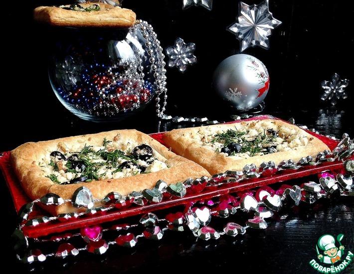 Рецепт: Слойки с сыром Рождественское утро