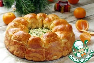 Рецепт: Сырные булочки с сырно-грибным кремом