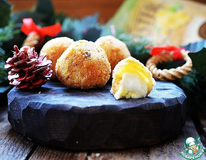 Рецепт: Жареный сыр, фаршированный сыром