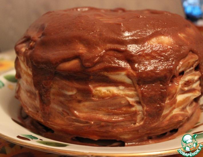 Рецепт: Нежный торт Черно-белое