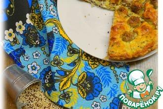 Рецепт: Пирог творожный с фрикадельками