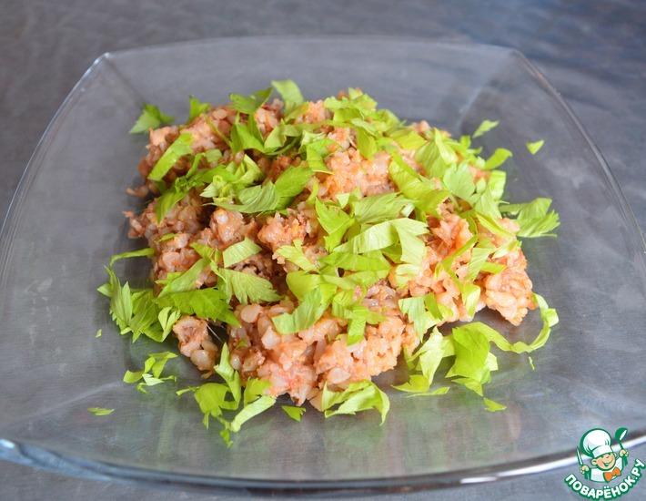 Рецепт: Гречка с сыром сулугуни и помидорами