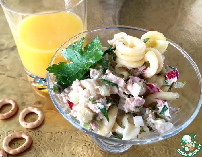 Рецепт: Средиземноморский салат с пастой