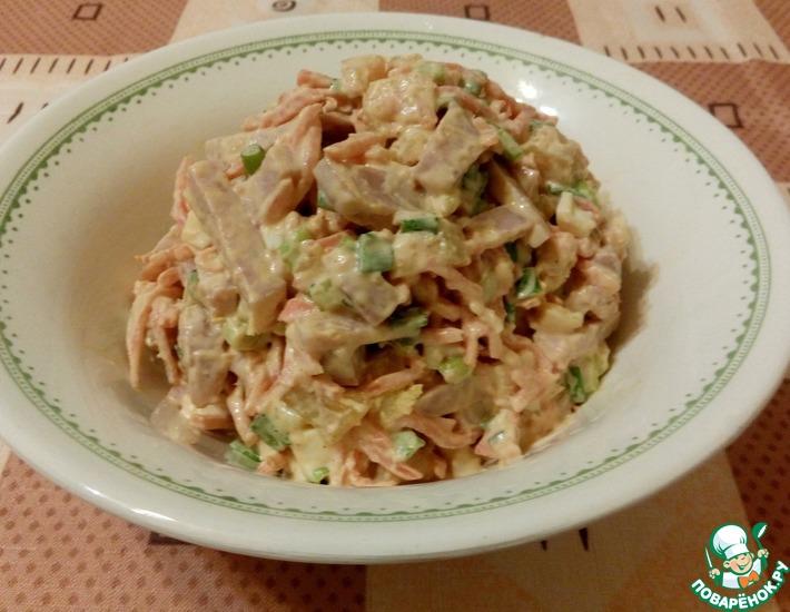 Рецепт: Салат Светик с морковью по-корейски