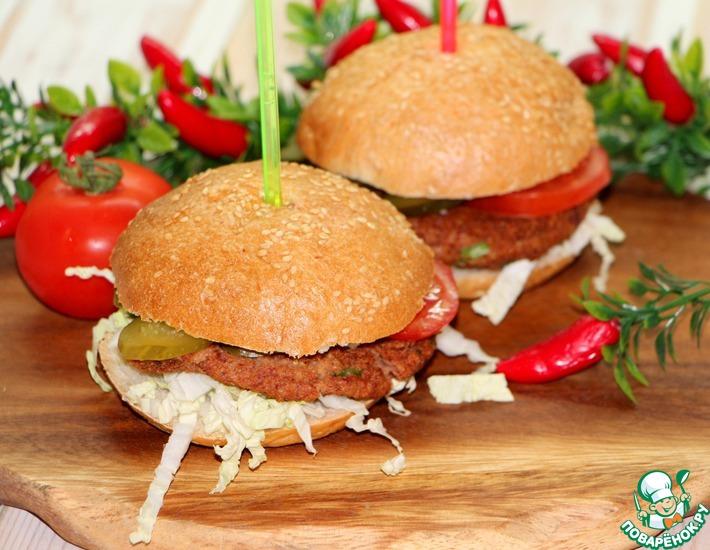 Рецепт: Домашний бургер с секретом