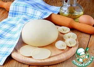 The dough for dumplings with vinegar