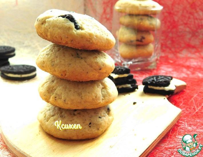 Рецепт: Печенье с маскарпоне Снежинка