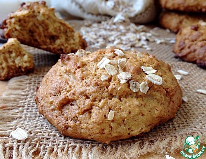 Рецепт: Овсяное печенье с мёдом