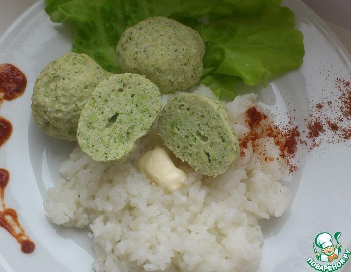 Рецепт: Диетические зеленые тефтели